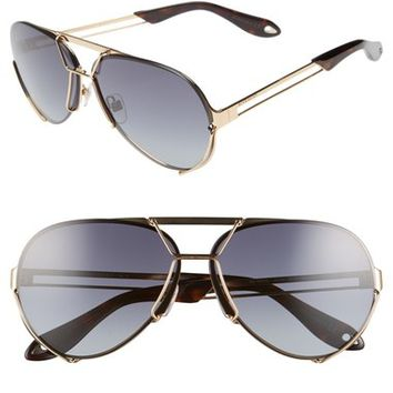 Givenchy 65mm Aviator Sunglasses | Nordstrom
