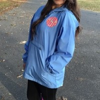 Columbia Blue Lilly Pulitzer Monogrammed Pack 'N Go