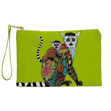 Sharon Turner Lemur Love Lime Pouch