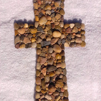 Wall Cross With Natural Stones