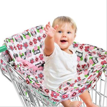 Portable Multifunctional Baby Children Folding Shopping Cart Cover Outdoor Safety Seat Chair for Baby Kids Child