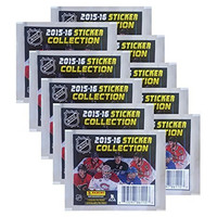 2015-2016 NHL Sticker Collection - 10 Packs of 7 - 70 Stickers Total! Panini
