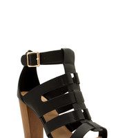 Wood You Rather Chunky Strappy Heels GoJane.com