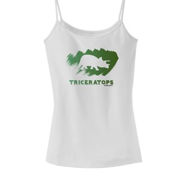 Jurassic Triceratops Design Spaghetti Strap Tank  by TooLoud