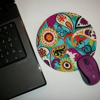 Mouse Pad / Mat Round Computer - Cosmo Paisley
