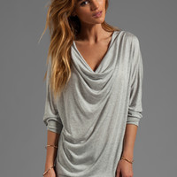 Lanston Fine Gauge Drape Tunic in Heather from REVOLVEclothing.com