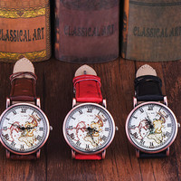 Vintage World Map Watch + Gift Box