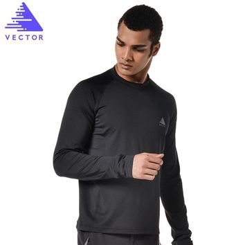 VECTOR Outdoor Sports T Shirt Men Women Long Sleeve Quick Dry Camping Hiking T-Shirt Full Fitness Trekking Hiking T-Shirts 10023