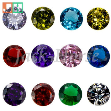 High quality CZ birthstone charms, locket charms, round floating locket birthstone