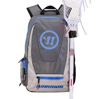 Warrior Jet Pack Tripper Backpack - Grey/Blue | Lacrosse Unlimited