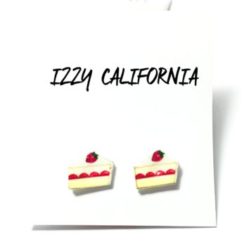 Emoji Cake Slice Earrings