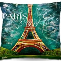 Decorative Woven Couch Throw Pillows from DiaNoche Designs by Teshia Unique Bedroom, Living Room and Bathroom Ideas Lamour a Paris Moonlight