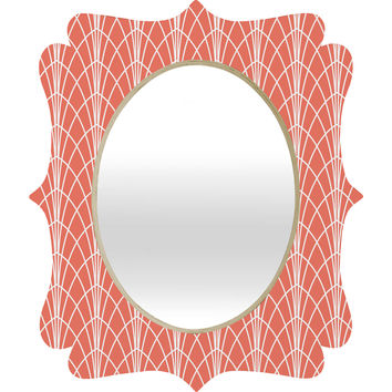 Heather Dutton Arcada Persimmon Quatrefoil Mirror