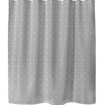 HONEYCOMB PINK Shower Curtain By Tiffany Wong