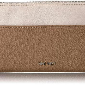 ONETOW Nine West Table Treasures Zip Around Wallet With Pouch 2 Wallet