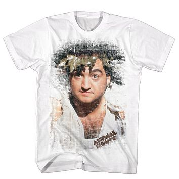 Animal House T-Shirt Distressed Toga Portrait White Tee