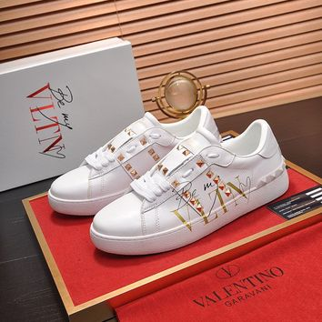 Valentino Men's Leather VLTN Sneakers Shoes