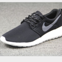 NIKE Women Men Running Sport Casual Shoes Sneakers Black grey hook