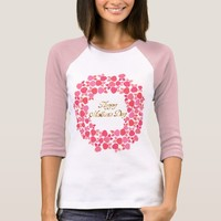 Happy Mother's Day Bouquet Of Pink Rose Flowers T-Shirt