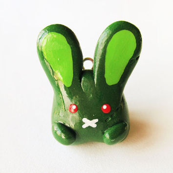Polymer Clay Zombie Bunny Rabbit Charm by MadAristocrat on Etsy