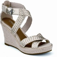 Sperry Top-Sider Harbordale Wedge Sandal PlatinumWoven, Size 9.5M  Women's Shoes