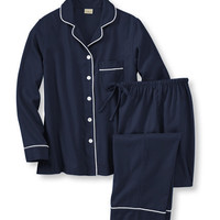 Pima Flannel Pajama Set: Sleepwear | Free Shipping at L.L.Bean