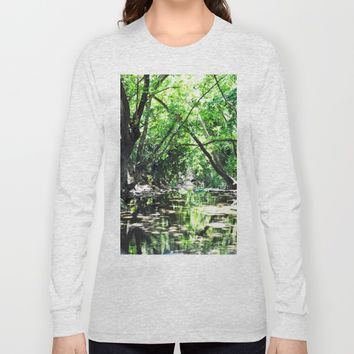 Baloons in river's lake Long Sleeve T-shirt by Azima