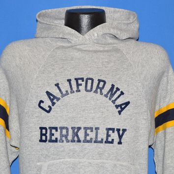 80s Berkeley University California Hooded Sweatshirt Medium