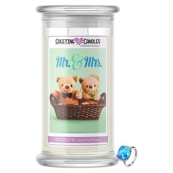Mr. & Mrs. | Jewelry Greeting Candle