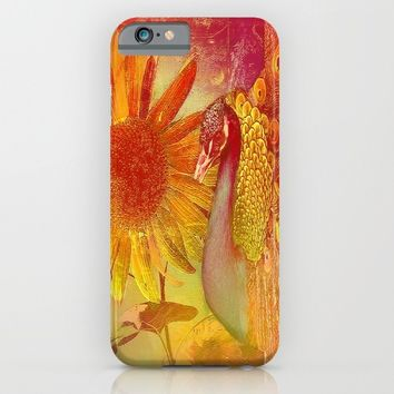 :: Sunflower and Ruebin the Royal Peacock ::  by Ganech Joe and Gale Storm iPhone & iPod Case by :: GaleStorm Artworks ::