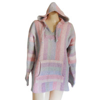 Drug Rug Hoodie Festival Clothing Festival Clothes Hippie Clothes 90s Clothing 90s Clothes Surf Fashion Baja Drug Rug Mexican Pullover