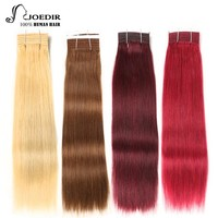 Joedir Double Drawn Brazilian Straight Hair Human Hair Weave Bundles Remy Ombre Color Blonde Burgundy Red Hair 99J Hair Bundles