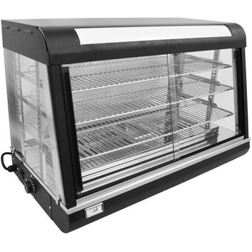 """Commercial Countertop Display Slanted Glass Food Warmer 47"""""""