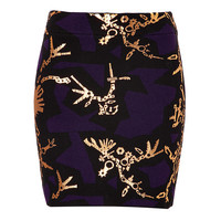 Kenzo - Graphic Print Cotton-Wool Mini Skirt
