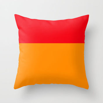 Colorblock Pillow Cover / Red and Orange Pillow Cover /  Colorblock Pillow Cover /  Decorative Pillow Cover  / Modern Pillow Cover