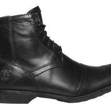 "Timberland Mens EK City 6"" Zip Boots Burnished Black Leather 19560"