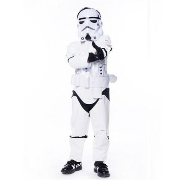 New Child Kids Deluxe Star Wars The Force Awakens StormTroopers Costume