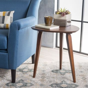 MD Knight Home Hoyt Mid-Century Wood End Table