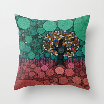 :: Wedding Tree :: Throw Pillow by GaleStorm Artworks