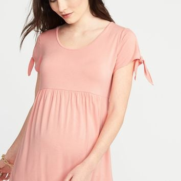 Maternity Tie-Sleeve Scoop-Neck Top |old-navy