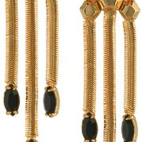 "Rebecca Minkoff 14k Gold ""Three-Chain"" Drop Earrings"