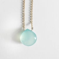 Aqua Chalcedony Faceted Drop Mother's Day Exclusive