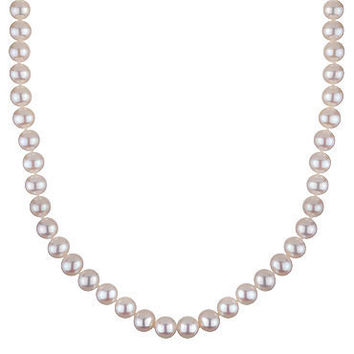 Honora 8-8.5mm White Freshwater Cultured Pearl Necklace