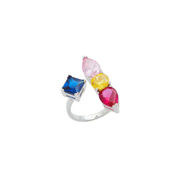 Rainbow Gem Corsage Ring