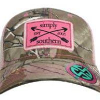 Simply Southern Preppy Collection Camo Trucker Hat HAT-ARROWCAMO-STONE