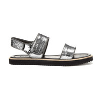 Holly Pewter Velcro Sandal