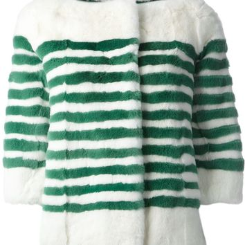 Marc Jacobs Stripe Button-Up Coat