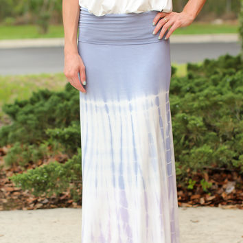 In The Middle Tie Dye Maxi Skirt