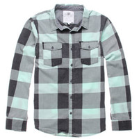 On The Byas Calvin Burnout Plaid Woven Shirt at PacSun.com
