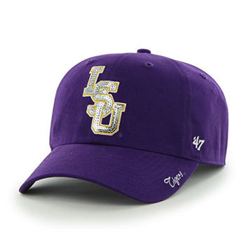 NCAA LSU Tigers Women'S Sparkle Team Color Clean Up Adjustable Hat, One Size, Purple
